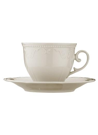 Kütahya Porselen Caprice Krem Çay Fincan Takımı Krem